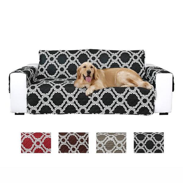 Géométrique Canapé matelassée Housse Canapé Housse Fauteuil Mobilier de protection pour animaux, chats, chiens