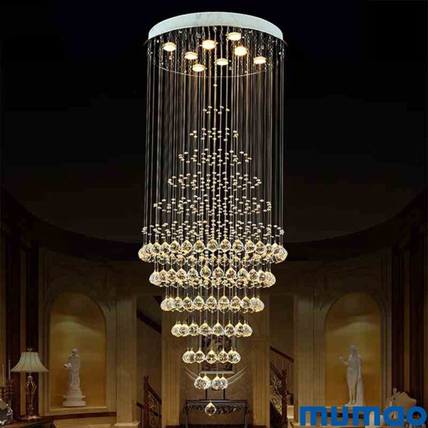 Moderno De Compre Colgantes De Techo Araña LED Iluminación Arañas De Lujo Lámparas Accesorios Cristal De Cristal Colgante Luz De De Interior m0wNv8n