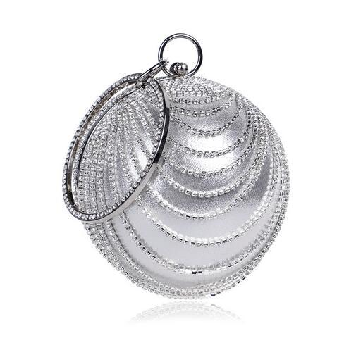 Circular Tassel Rhinestones Women Evening Bags With Handle Diamonds Metal Handbags For Wedding/Party/Dinner Evening Bags