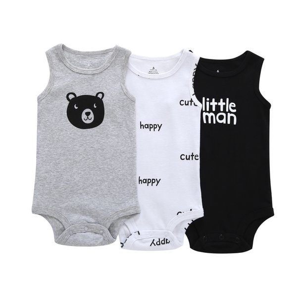 Born to Kill Newborn Baby No Sleeve Bodysuit Romper Infant Summer Clothing Black