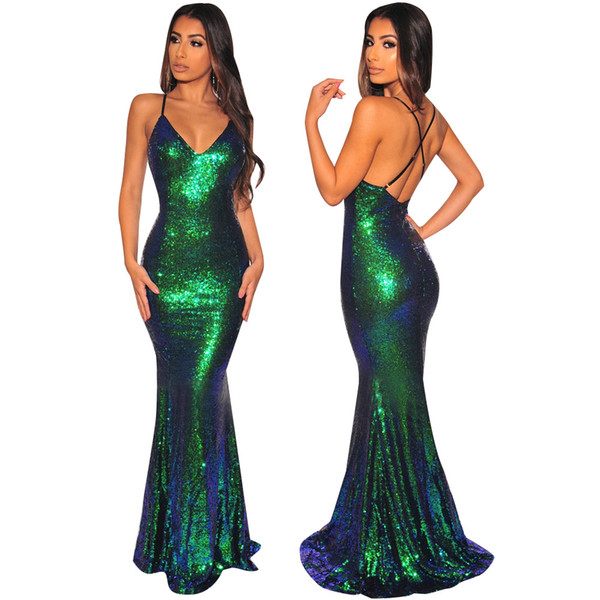 Best Selling Mermaid V-neck Floor Length Turquoise Chiffon mermaid Prom Dresses Beaded Pleats Discount Prom Gowns Formal Evening Dresses