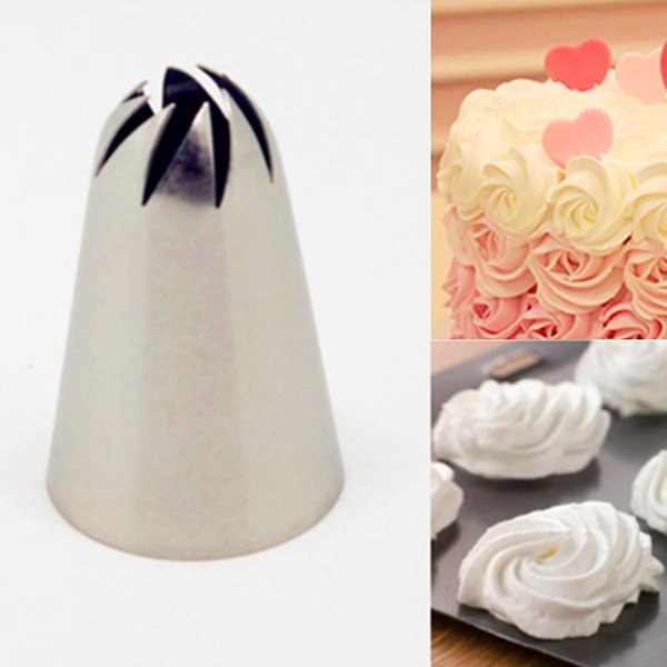 Wholesale- #336 Large Size Icing Nozzle Decorating Tip Sugarcraft Cake Decorating Tools Baking Tools Bakeware HG0280