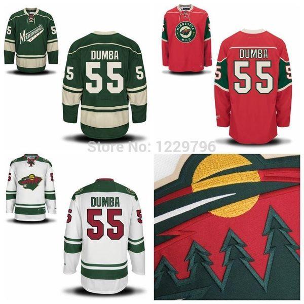 2015 Matt Dumba Minnesota Wild Hockey Jerseys New White Green Red Authentic #55 Matt Dumba Stitched Jersey Best Quality China