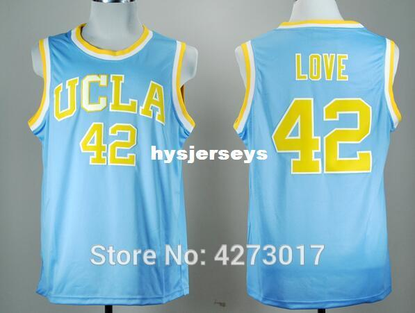 Discount College Basketball Jerseys UCLA Bruins 42 Kevin Love Jersey Men Blue For Sport Fans Embroidery Good Quality Ncaa