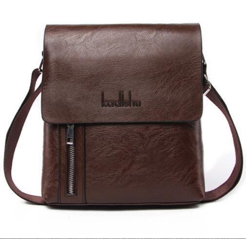 Men Vertical Genuine Leather Bag 18049 Men Messenger Commercial Briefcase Designer Handbags High Quality Shoulder Crossbody Bags large size