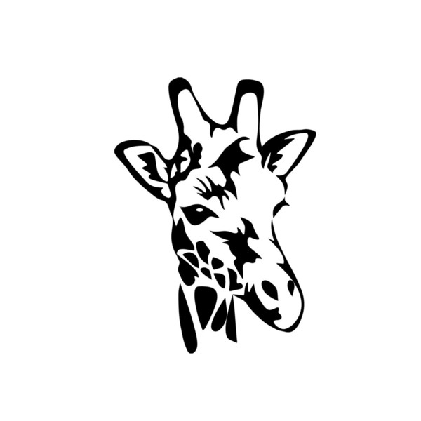 Giraffe Head Face Decal Window Bumper Sticker Car Decor Wildlife Safari Animal