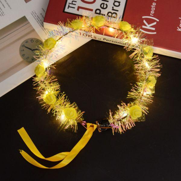 Hot LED lampeggiante Illuminare Bella decorazione dei capelli LED tornante Toy baby night club Partito divertente regalo Xmas Outdoor Wreath Giocattoli fascia