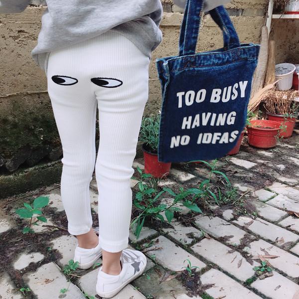 Girl Pants Eyes Printing children pant Spring Autumn kids leggings skinny girls leggings Kids Clothing Fashion Cotton trousers