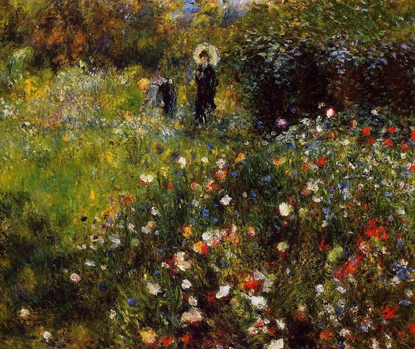 Handpainted & HD Print Summer Landscape by Pierre-Auguste Renoir Art Oil Painting On Canvas Wall Art Home Deco High Quality l74
