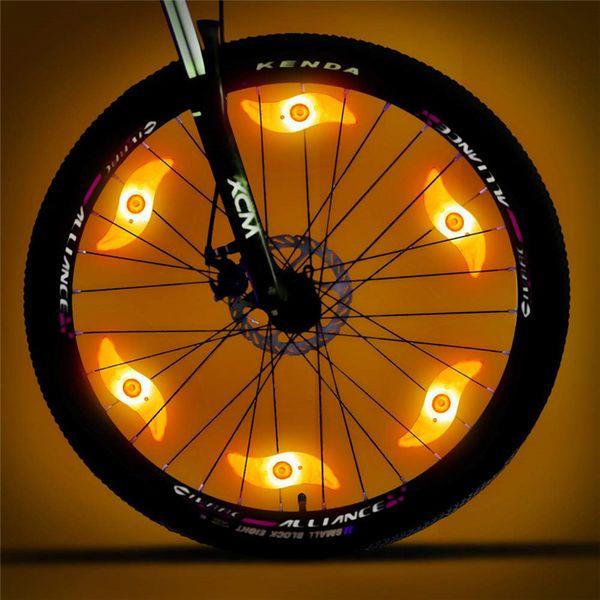 Bisiklet Dahil Pillerin Artı 6 Ekstra CR2032 Piller Bisiklet Bisiklet Dekorasyon ile Işıklar 6 Paketi Led Bisiklet Tekerlek ışıkları konuştu