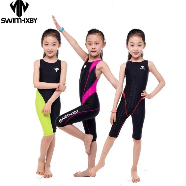 Hxby Professional Competition Kids Swimsuit For Girls Swimwear Women One Piece Bathing Suit Women's Swimsuits Swimming Suit Y19062901