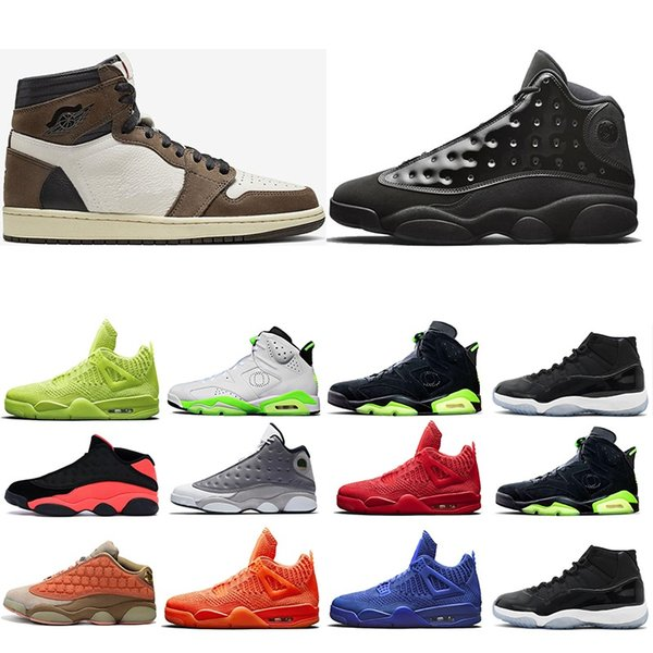 Size 13 New 1s Travis Scotts Men Basketball Shoes 6s Oregon 11s Space Jam 11 concord 25 Mens Trainers 4s 13s 14s 12s Outdoor Sports Sneaker