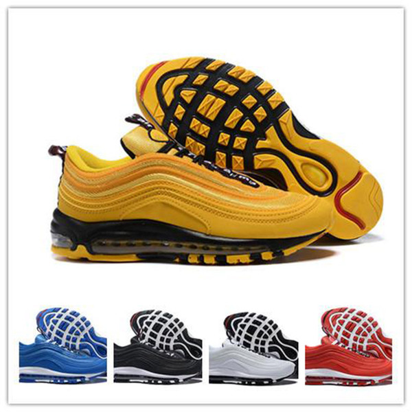 New Original Mens Running Shoes Cushion Men White Yellow Red Sports Athletic Trainers Ourdoor Sneakers