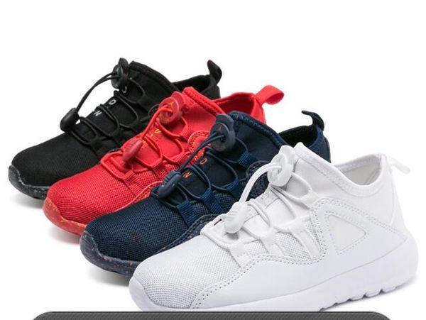 Nuevo Bebé Niños Zapatos para correr Zapatos para correr Zapatos atléticos para niños Niños Niñas Beluga 2.0 Zapatillas Negro Rojo tamaño: 25-36 0001