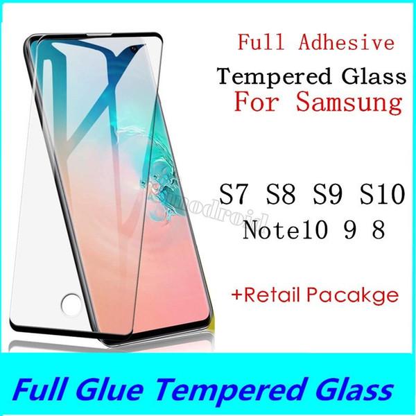 Полный клей Закаленное стекло для Samsung Galaxy S10 S9 S8 Plus Lite Для Samsung Note 10 9 8 S7 Edge Защитная пленка для экрана