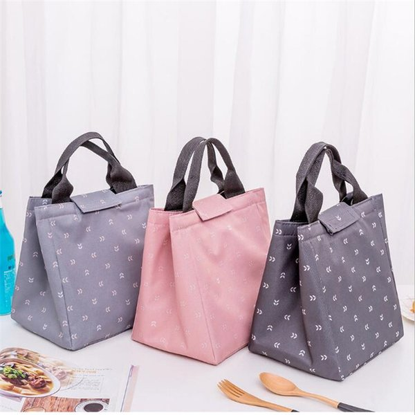 Waterproof Oxford Cloth Beach Lunch Bag Leaf Tote Thermal Lunch Bag Student Picnic Cooler High Quality