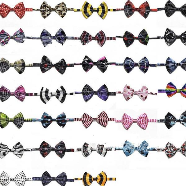 Новый стиль галстук собаки любимчика печати галстук-бабочка животных мода галстук мультфильм полоса милый щенок аксессуары YI0002