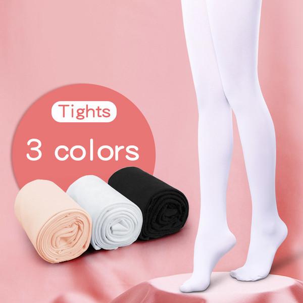 Children Girls Tights Kids Adult Nylon Leggings Gymnastics Dance Ballet Pantyhose 80d 3 Pairs Q190604