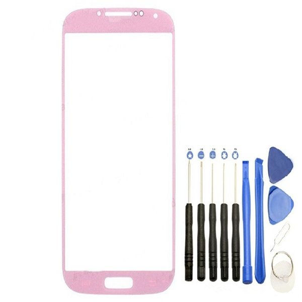 High Quality 300PCS Front Outer Touch Screen Glass Lens Replacement for Samsung Galaxy s4 i9505 i337 i9500 with Tools