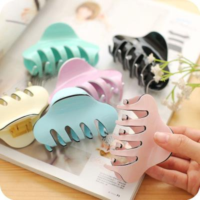 Candy Large Plastic Hair Claws Hair Clips Girls Hairpins Crab Claws Jaw Clamp Hair Jewelry