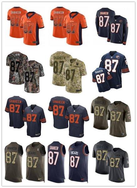 2019 custom em qualquer número melhor jersey desgaste Chicago 87 Adam Shaheen Bear homens / mulheres / juventude vermelho ursos McManis Jerseys s-xxxxl