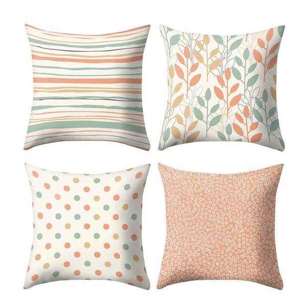 Fodera per cuscino con stampa scandinava Copridivano per divano in poliestere nordico Decorazioni per la casa Coprisedili 45 x 45 cm Decorativi