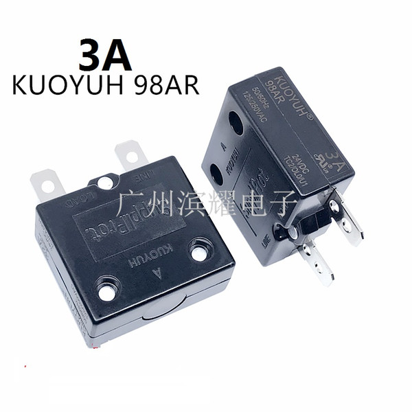 top popular Taiwan KUOYUH 98AR-3A Overcurrent Protector Overload Switch Automatic Reset 2021