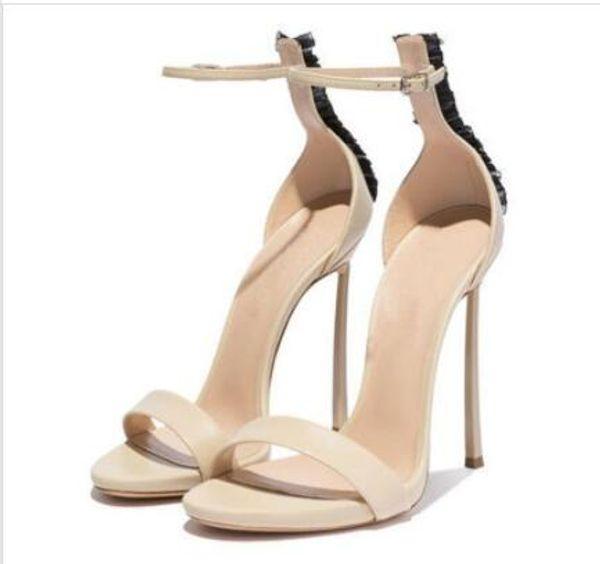2019 brand new summer peep-toe sandals sexy stiletto strap sandals gladiator shoes lace trim blade heels stiletto heels 12 cm