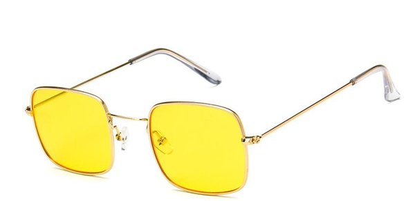 Retro kleine quadratische Sonnenbrille, Männer und Frauen, europäische und amerikanische Trends, transparente Sonnenbrillen