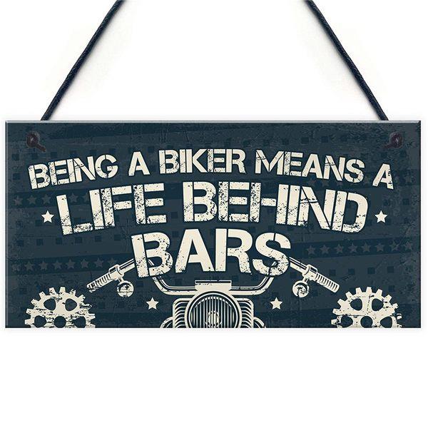 Novelty Biker Gifts For Men Hanging Motorcycle Motorbike Man