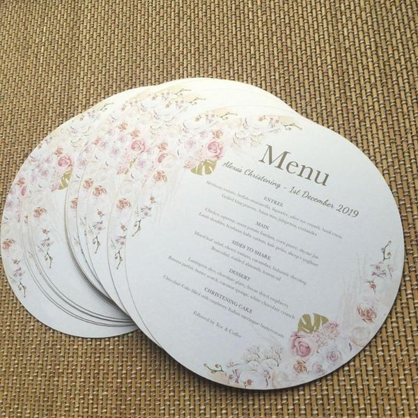 Beautiful Paper Menu Card Round Shape Paper Invitation Cards With Custom Printing Free Greeting Card Online Free Greeting Cards Birthday From Sakuna