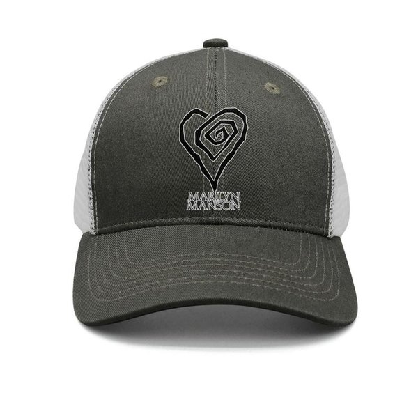 Marilyn Manson white logo Love army-green mens and womens trucker cap baseball design fitted uk hats