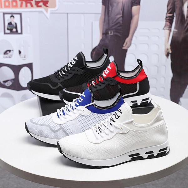 2019x famosa Moda de Luxo Respirável Sapatos esportivos Casuais Tendência Voando web Lace-Up calçados esportivos de Alta qualidade Sapatos Casuais tamanho 38-44