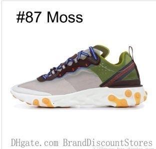 Реагировать Element 87 55 кроссовки для мужчин Женщины Антрацит Light Bone Тройной Черный Белый Красный Orbit Мода Мужские Тренажёры Спорт Sneaker