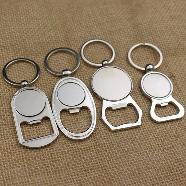 Bottle Opener Keychain Metal Key Ring Beer Bottle Opener Creative Gift Bar Accessories Fast Shipping NO321
