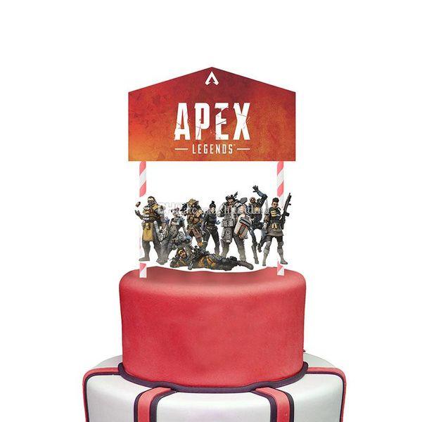 Lendas Apex Cupcake Picks Bolo Toppers Dos Desenhos Animados bolo Inserts Cartão Presentes de Festa de Natal para Crianças Decoração de Aniversário C6603