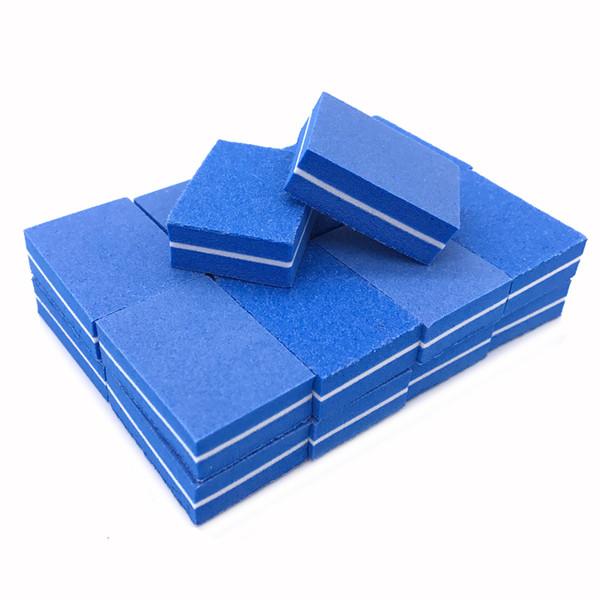 heap Files & Buffers 20pcs/lot Mini Nail File 100/180 Block Nagelvijl Buffer Grit Design Lima Unghie Sand Sponge Manicure Pedicure N...