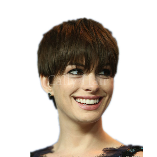 Capelli indiani Nuovo arrivo parrucca di capelli umani acconciatura Rihanna dritto corto parrucche taglio di capelli biondi per le donne nere parrucche piene di capelli pizzo anteriore anteriore