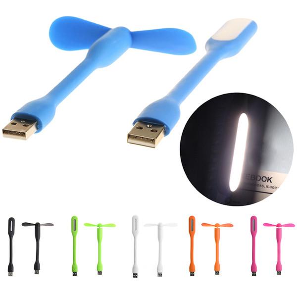 Творческий USB Вентилятор Гибкий портативный мини вентилятор и светодиодные лампы для Power Bank Notebook Computer Summer Gadget2