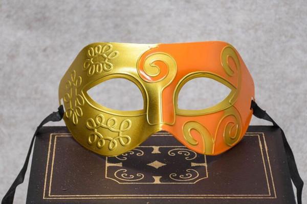 Splitter Schwarz Halbgesichtsmaske Für Männer Römische Gladiator Maske Venezianischen Karneval Maskerade Halloween Kostüm Party Maks