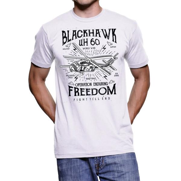 T - Shirt Uomo Blackhawk Freedom Vintage 2019 Moda Manica corta Collo tondo T-Shirt personalizzate Comoda T-Shirt da uomo