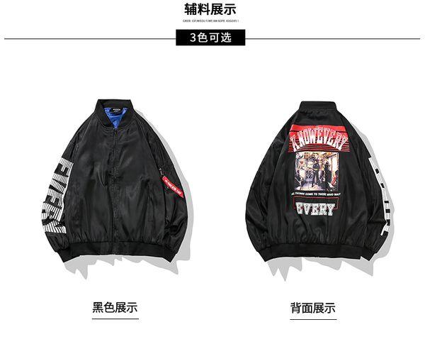 Bormandick para hombre chaquetas Chaquetas Hip-Hop Outwear Otoño Moda Hit  Patchwork Casual Streetwear Hombre Chaqueta delgada KXP18-CJ08 65 e3eeb76f9b4