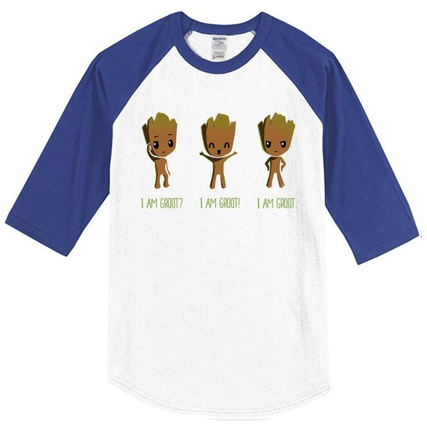 Moda 2019 Yaz erkek T-shirt Ben AM GROOT Karikatür Komik T Gömlek Erkekler Casual En Hip Hop T-shirt Harajuku Raglan Kollu Tops