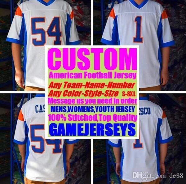 Camisas de futebol americano personalizado New Orleans equipe faculdade autêntica retro rugby futebol basquete hóquei de basquete jersey 4xl 5xl 8xl esportes