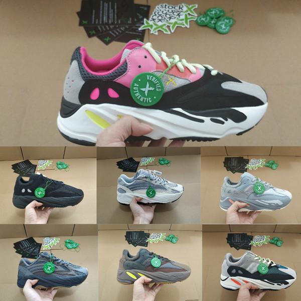 Großhandel Adidas Yeezy 700 Boost V2 Air Jordan Puma Asics Skechers Vans Fila Basketball Designer Shoes Men Jahre Sport Turnschuhe Lila Solide Grau