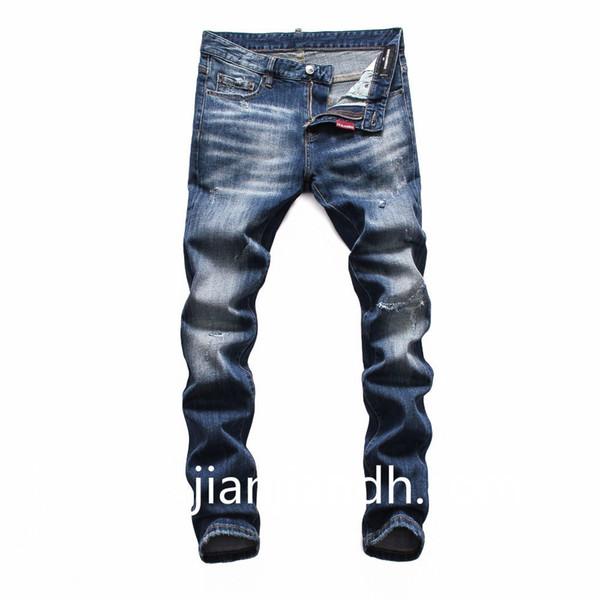 2019 yeni nokta trend yıkama high-end küçük kaliteli kaliteli gece kulübü kardeş kardeş erkek moda kot pantolon 720 8111
