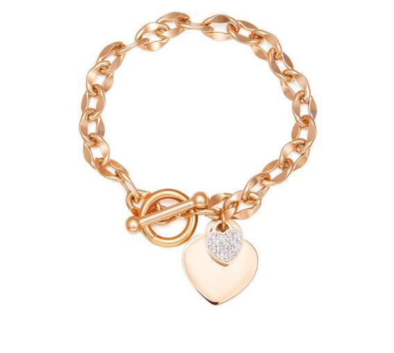 Luxury designer jewelry women bracelet designer love bracelet rose gold OT lock stainless steel bangle fashion wholesale cheap jewelry