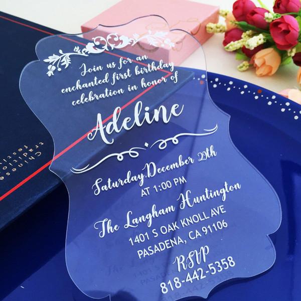 Acrylic clear Wedding invitations,customized castle wedding invites,Acrylic wedding invitations,acrylic invitations card