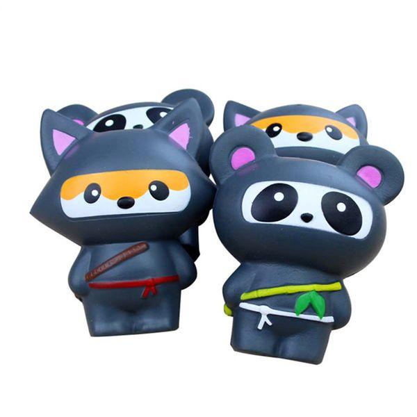 New 13cm Kawaii Ninja Fox/Panda Squishy Jumbo Slow Rising Toys Antistress Soft Decor Cake Squish Squeeze Scented Gadget