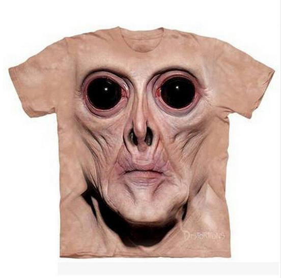 Yaz Tarzı Yeni Moda Erkek / Bayan Maymun Yüz Komik 3D Baskı Rahat T-Shirt ABCQ00180